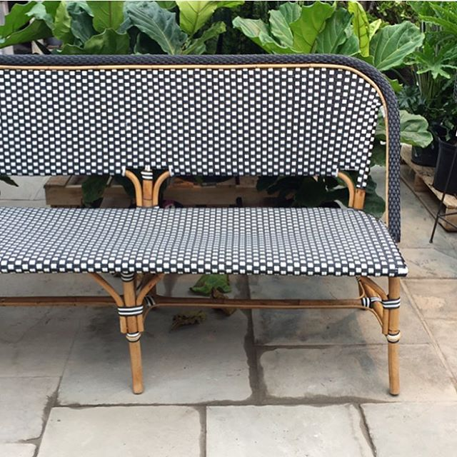 Added another thing to my house wish list today, a sunroom filled with plants and this beautiful @shopterrain rattan café settee.
