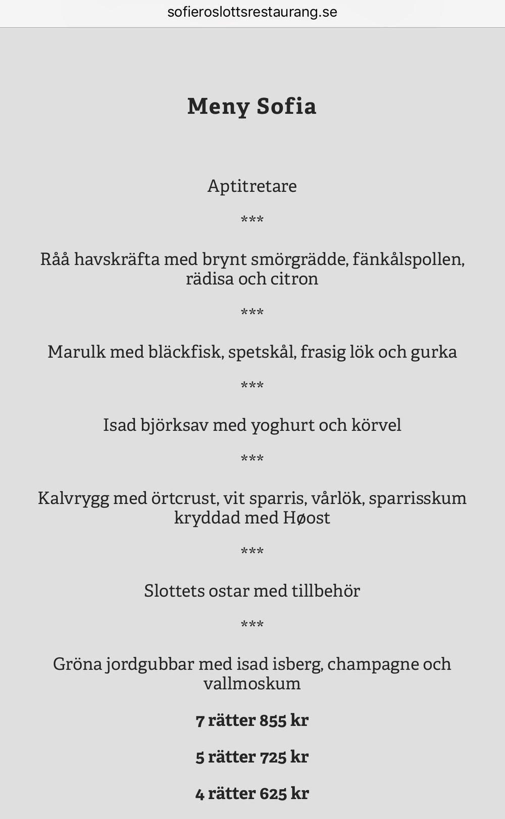 SOFIERO SLOTTSRESTAURANG • HELSINGBORG, SWEDEN