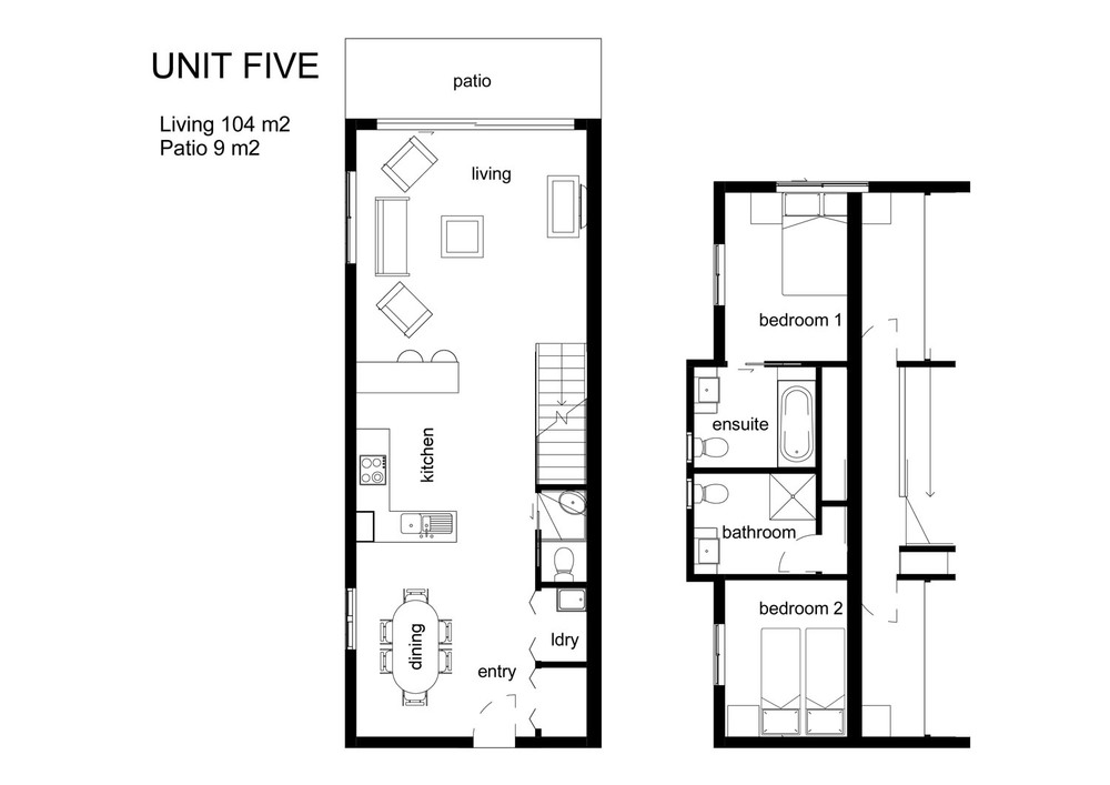 One of a Kind Apartments Paris apt floor plan