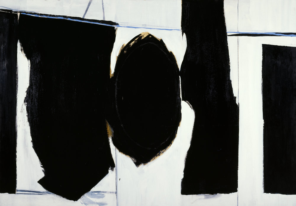 Robert Motherwell   Elegy to the Spanish Republic  1958 synthetic polymer paint on canvas National Gallery of Australia Purchased with the assistance of American Friends of the National Gallery of Australia Inc., New York, NY, made possible with the generous support of The Dedalus Foundation and the Foundation of the National Gallery of Australia 1994 © Dedalus Foundation, Inc./VAGA/Copyright Agency