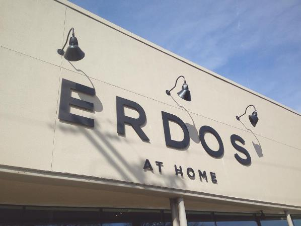 STORE SIGNAGE - ERDOS AT HOME - DALLAS, TX   - 2015  Unique furniture store with great designs.