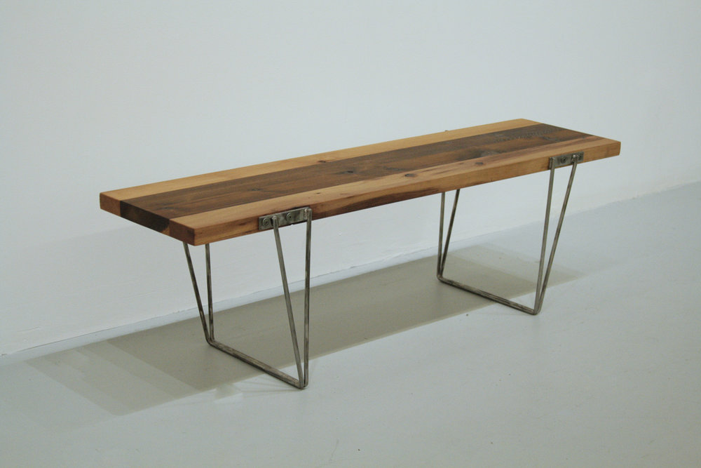 STEEL & CEDAR BENCH - BY - MILAN BENDER