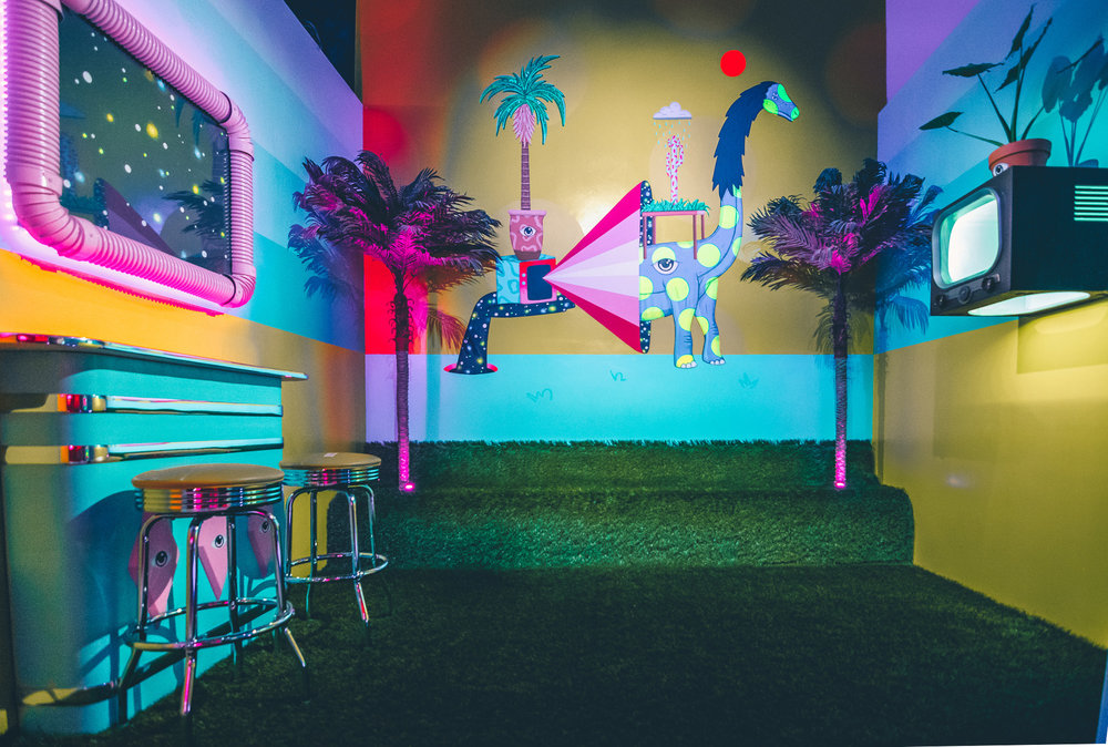 FABRICATION AND ART INSTALLATION  ARTIST - DRIGO  PHOTO - JONATHAN ZIZZO  SWEET TOOTH HOTEL 1955 - DALLAS, TX - 2018