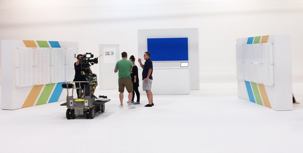 SET BUILDOUT - AMP MEDIA - DALLAS, TX - 2017  Shooting a commercial for Eyemart Express.