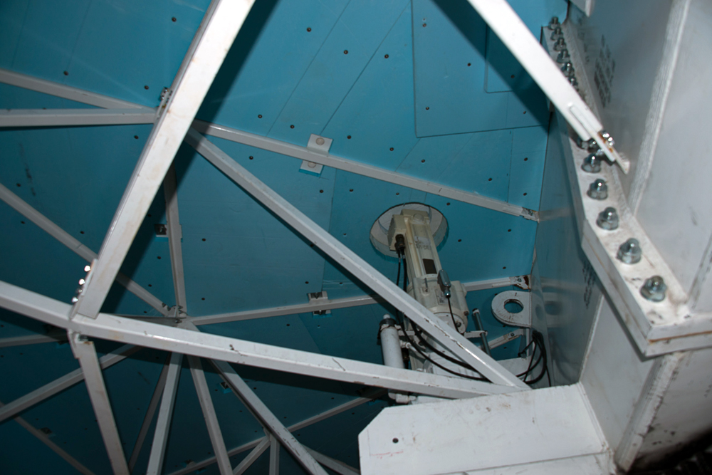 Inside the telescope