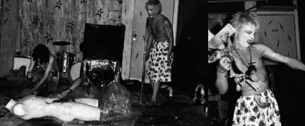 Primera actuación de PE en Arts Building, Pomona, Los Angeles, 1981 (Fotos Edward Colver)