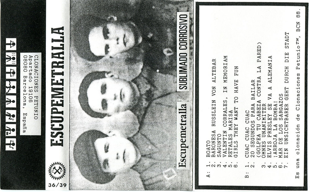 Sublimado Corrosivo, 1988