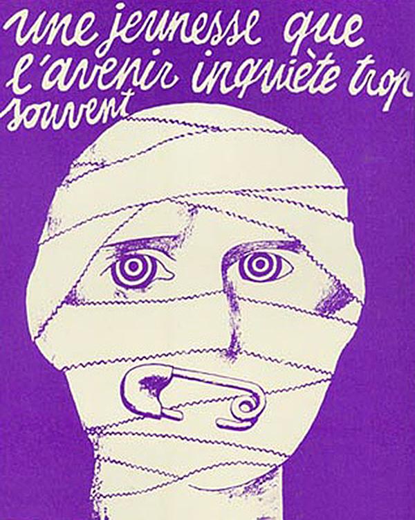 Inspiración para Malcolm McLaren, póster mayo francés 68