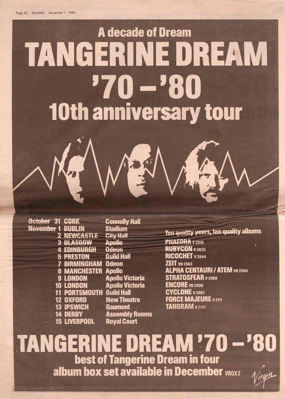 Tangerine Dream Selfzine
