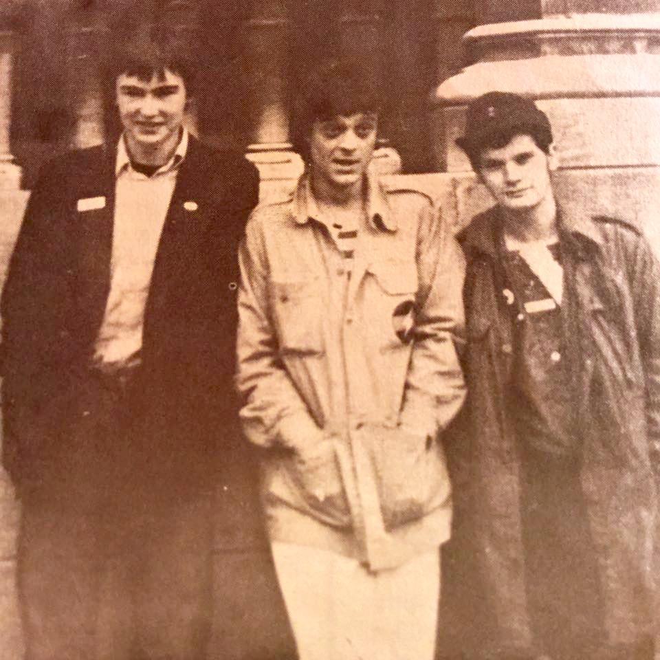 Stan Bingo, Jordi y Glenn Michel Wallis, 1979, foto de Steve Cammack