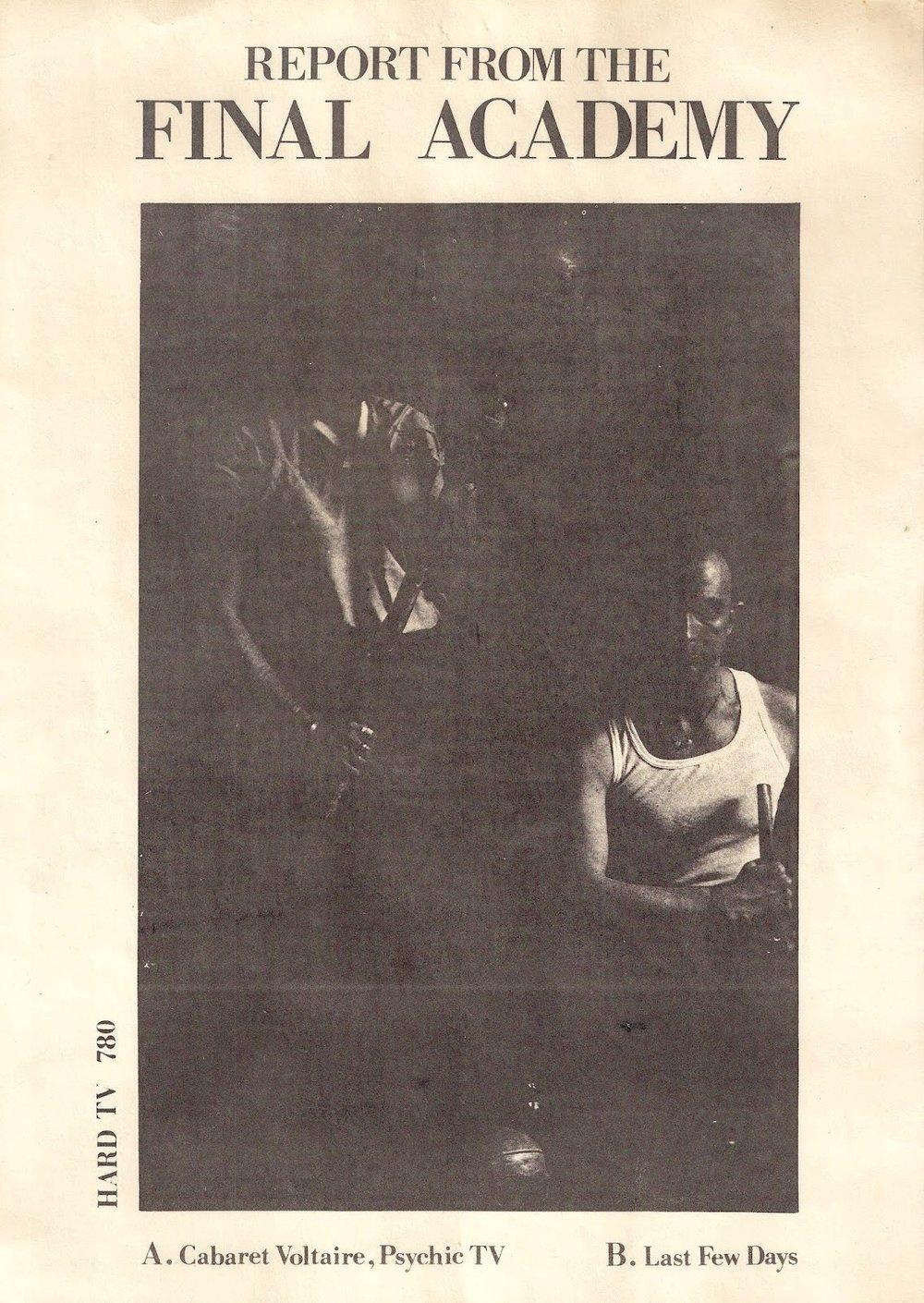 Cabaret Voltaire, Psychic TV y Last Few Days, 1982