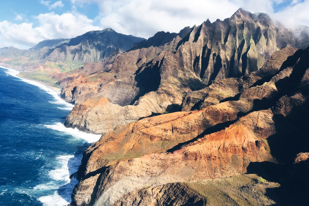 The Nā Pali Coast.