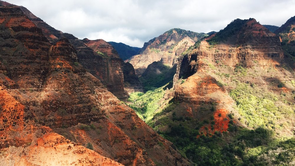 Waimea Canyon State Park, the Grand Canyon of the Pacific.