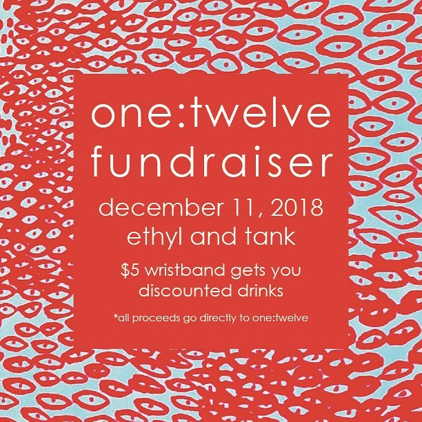 Come out and support 1:12!! Find a member to purchase your wristband and let's have a good time on December 11th from 6-8pm! #obsessed