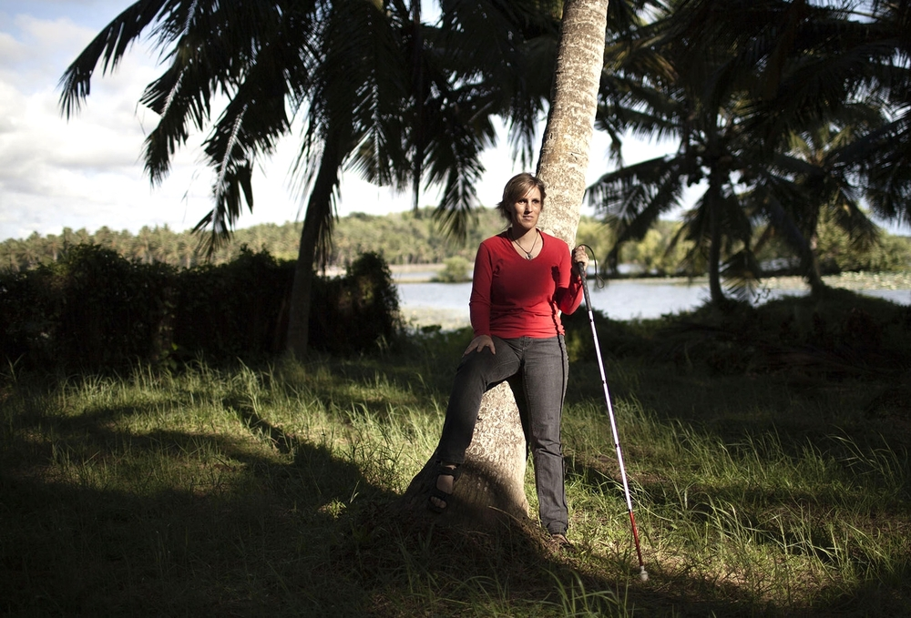 Sabriye Tenberken 43, who went blind at 12, co-founder of Braille Without Borders (BWB) and kanthari. Kerala 2014