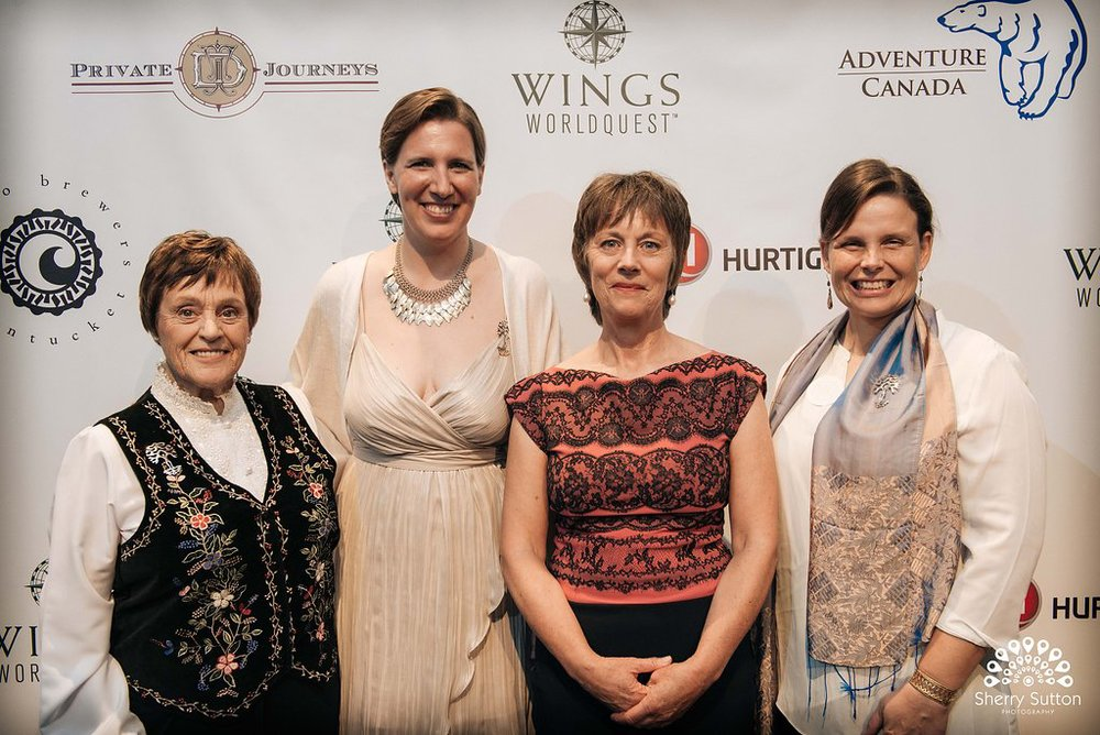 From Left: Helen Thayer, Felicity Aston, Arita Baaijens, and Daphne Soares