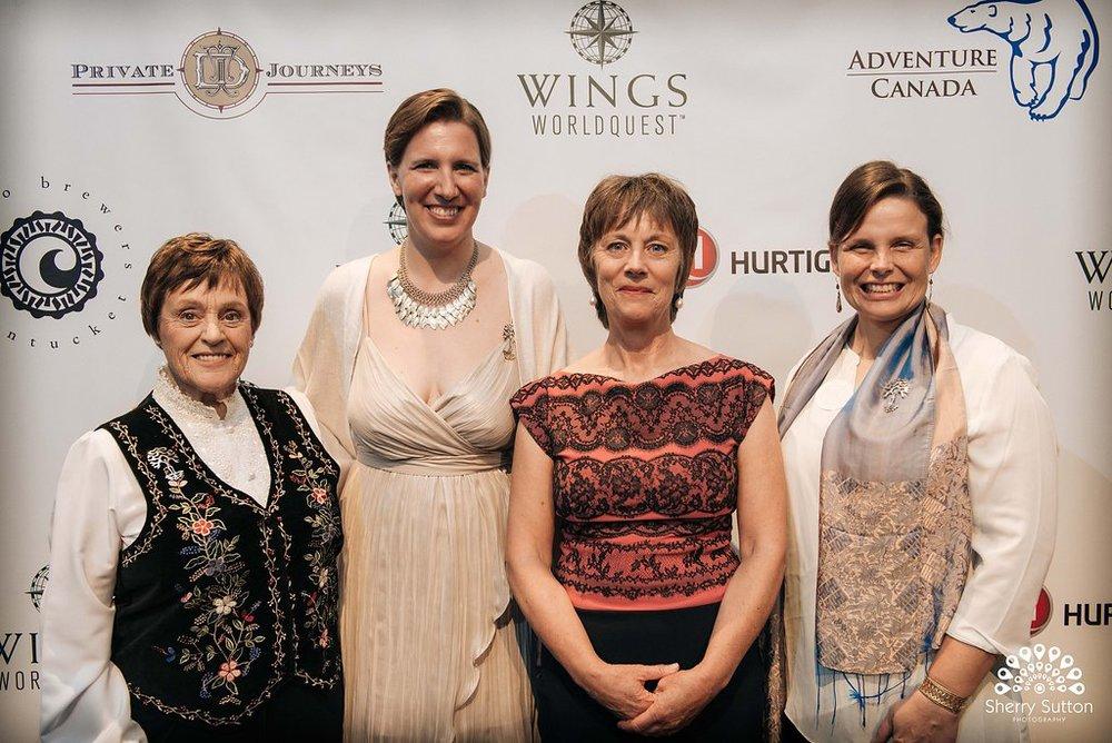 From Left: Helen Thayer, Felicity Aston, Arita Baaijens, and Daphne Soares