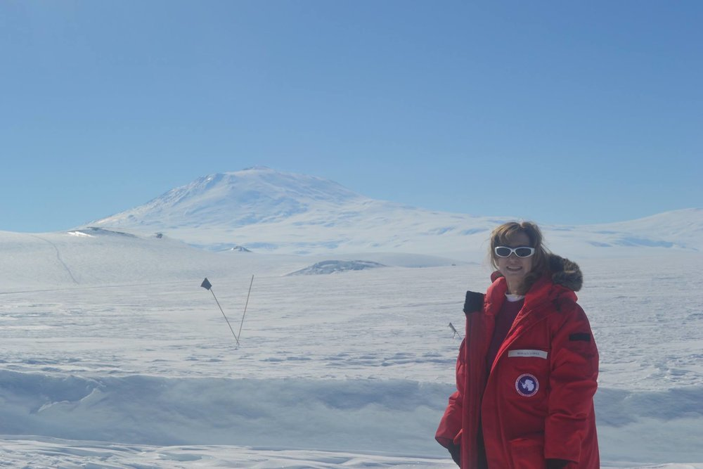 WINGS Fellow Rosaly Lopes at Mt. Erebus