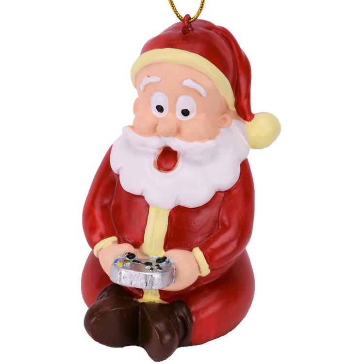 gaming santa claus christmas ornament - Funny Christmas Tree Ornaments