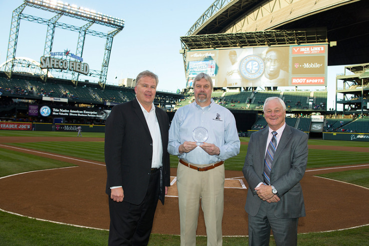 Trio principals Dennis Brooks and Jeff Quint at Safeco Field.