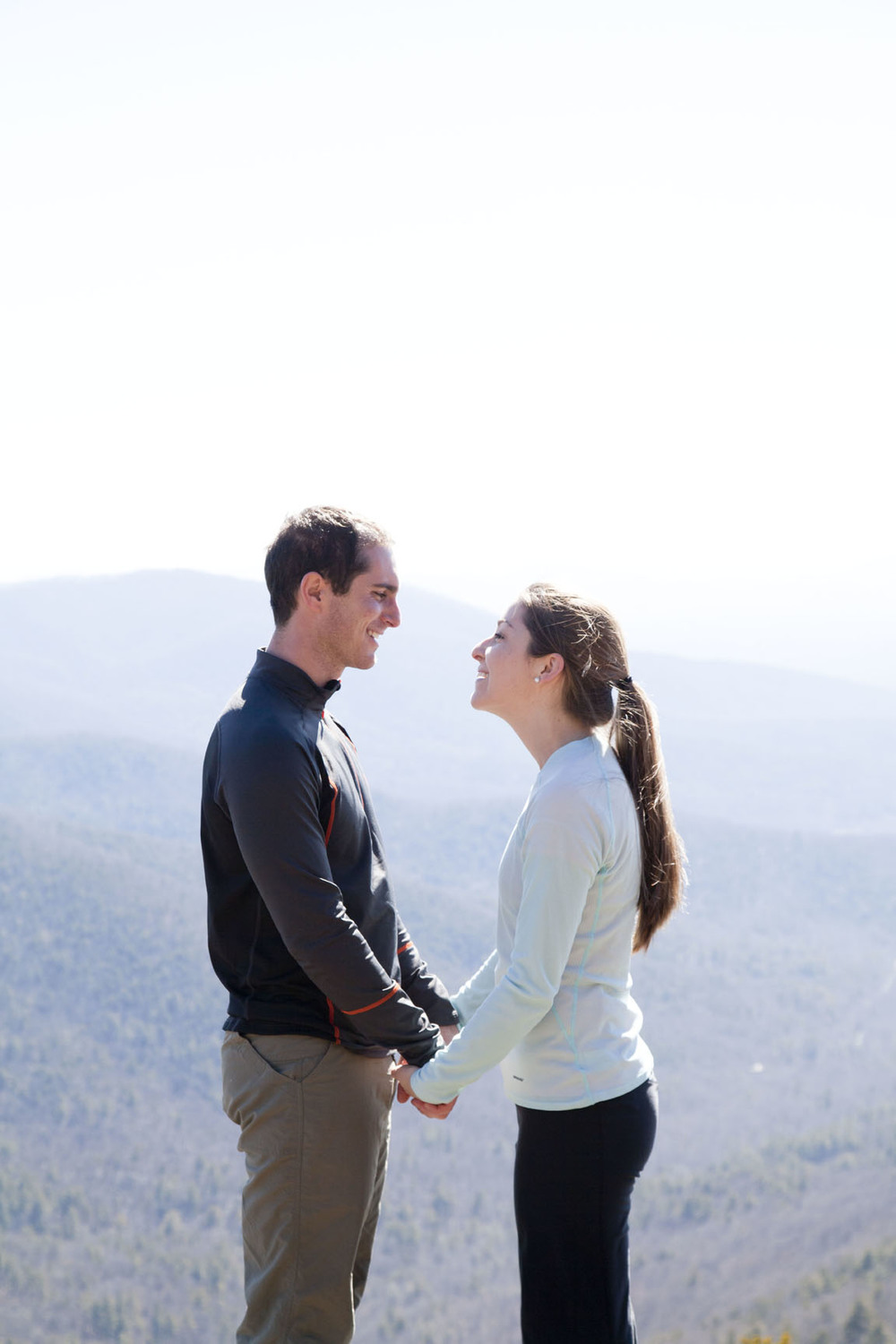 Emily + Zach Georgia Mountaintop Proposal