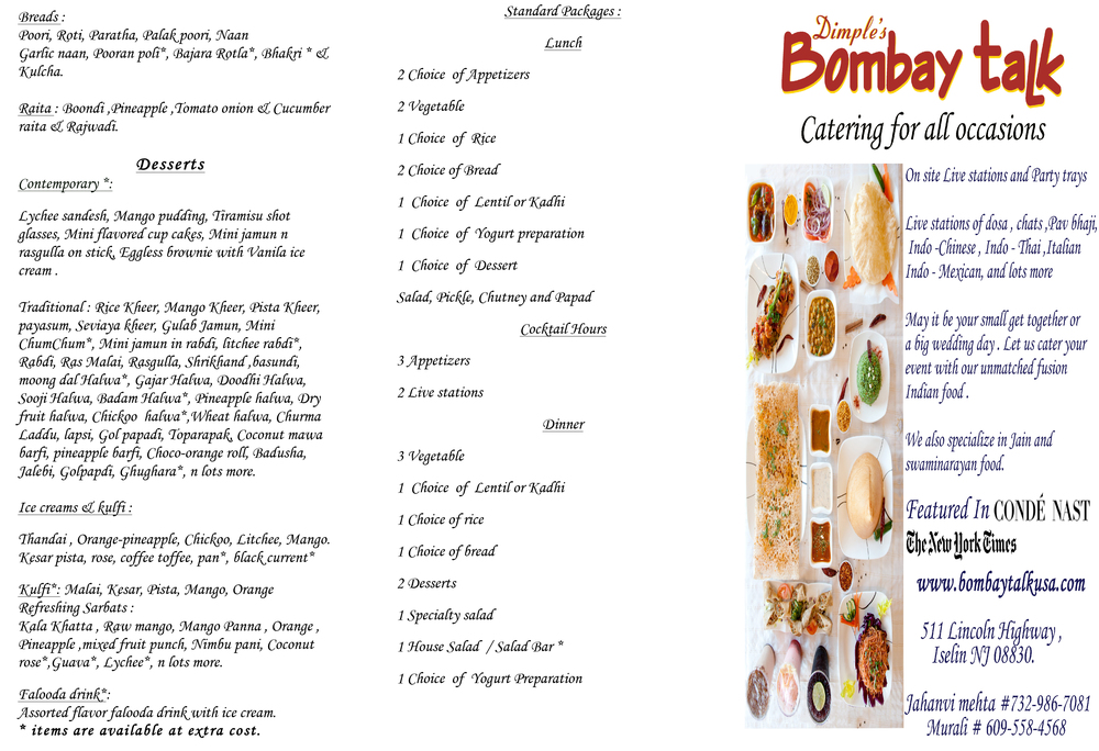 banquet menu page 2