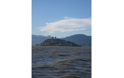 This is the island of Janitzio outside of Patzcuaro.