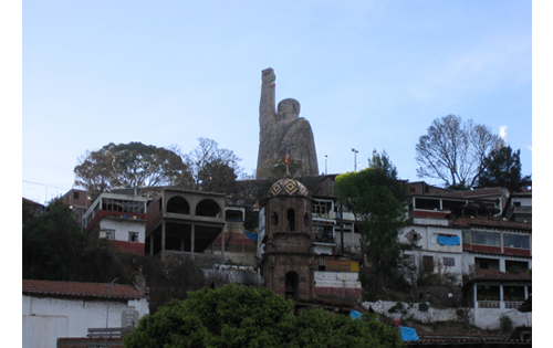In order to attract more tourism to the island they built a statue of Morelos, a Mexican hero.