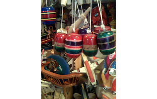 Typical mexican toys in the market.