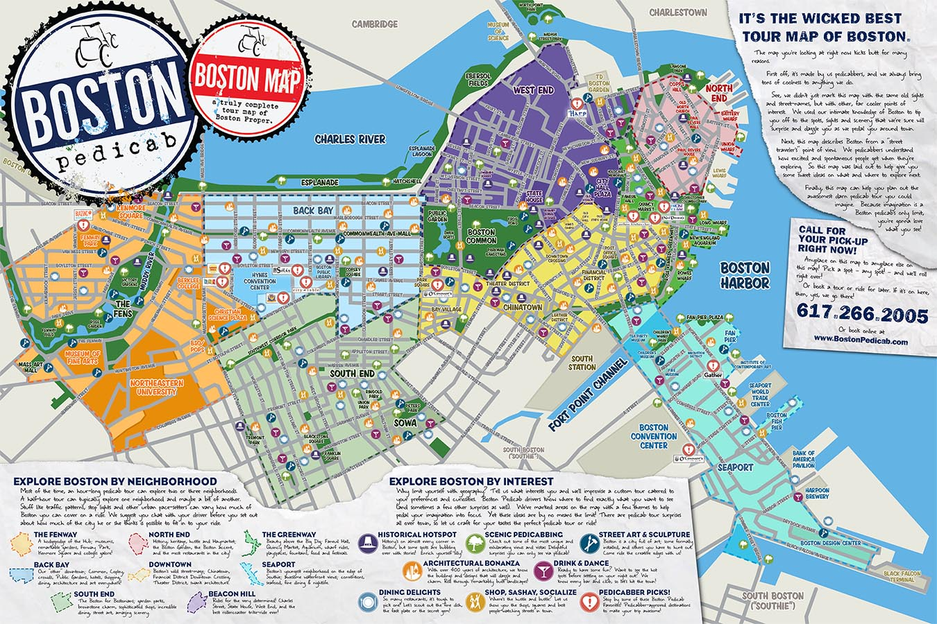 The Absolute BEST Tour Map of Boston. Period. — Boston Pedicab