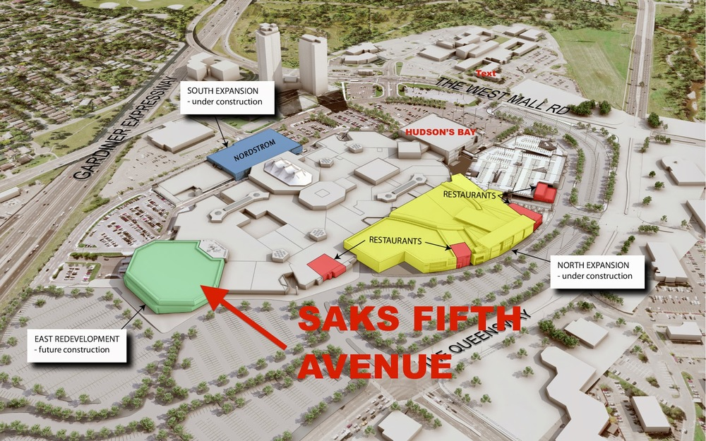 Saks Fifth Avenue to replace Sears at Toronto's Sherway Gardens on rockefeller center map, flatiron building map, petco map, nordstrom map, kmart map, hudson's map, kroger map, new york city map, lowe's map, dillard's map, macy's map,