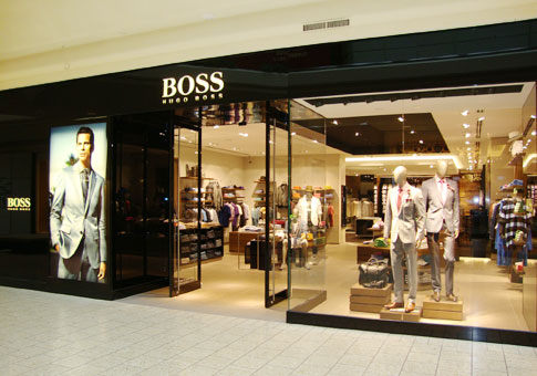 Hugo Boss Online Store Hugo Boss Online Store. Hugo Boss is an apparel manufacturer, selling high-end apparel for men, women and children. If you want to purchase items, you have the ability to shop at your local retail outlet or visit the Hugo Boss online store.