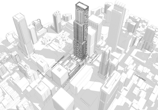 update holt renfrew in toronto to substantially expand renovate Toronto Tourist Attractions holt renfrew tower rendering courtesy city of toronto planning mission
