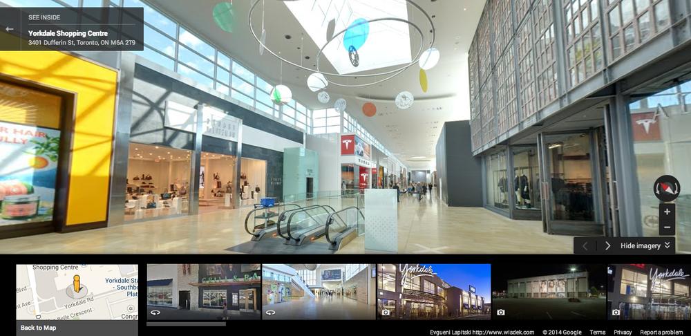 yorkdale wisdek toronto interior google walk streetview retail insider.png