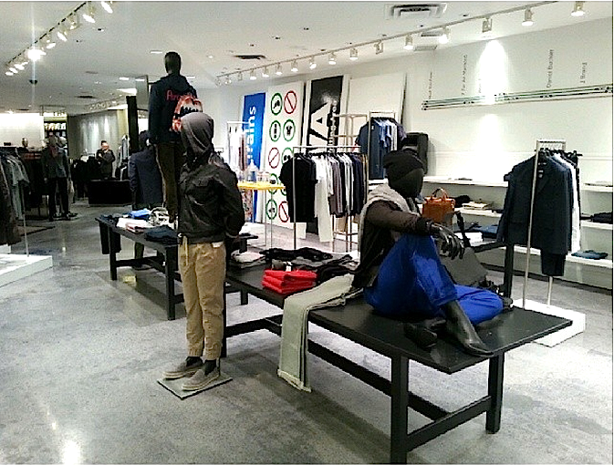 New men's 'White Room' on the concourse level at Holt Renfrew, 50 Bloor St. W. [Image Source]