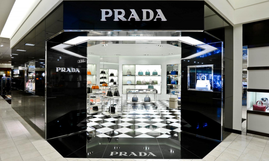 Prada concession at Nordstorm, Mall of America, Minneapolis. Photo via  Prada Group 2012 Annual Report Presentation.