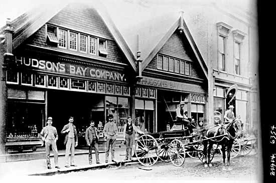 1887 Cordova Street Hudson's Bay store (HBC archives)