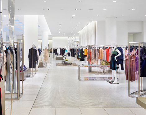 Women's designer floor at Holt Renfrew, Vancouver. Designer boutiques include CHANEL, Tom Ford, Akris, Giorgio Armani, Michael Kors, Gucci, Prada, Burberry and Dolce & Gabbana. Other designers carried on this floor read like a who's who of designers: Oscar de la Renta, Jil Sander, Missoni, Valentino, Marni, Etro, and the list goes on. Photo: Holt Renfrew.