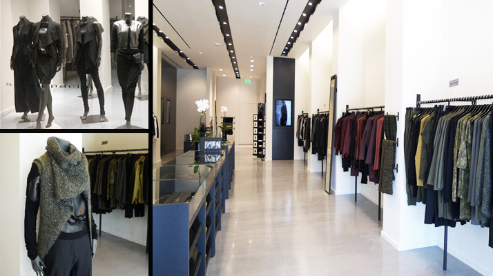 Interior of the Sarah Pacini store in Beverly Hills, California. Photo: Sarah Pacini