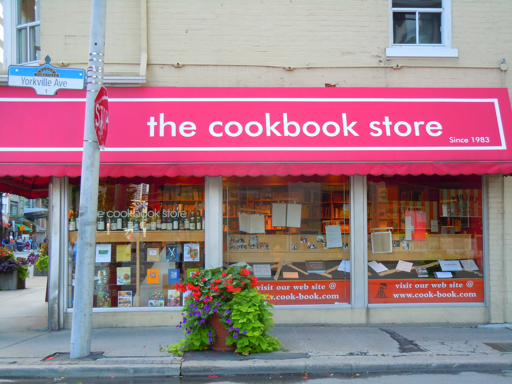 Toronto's iconic 'The Cookbook Store' closed last month.  Image Source