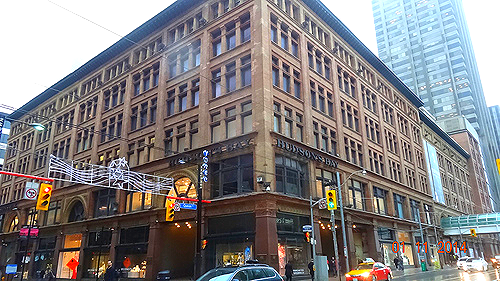 Hudson's Bay Toronto flagship, formerly Simpson's. Saks Fifth Avenue will occupy 150K sq ft in this building next year. Photo credit: Darrell Bateman