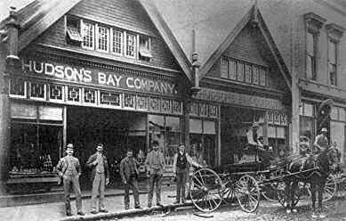 Vancouver store, 1890. HBC Archives.