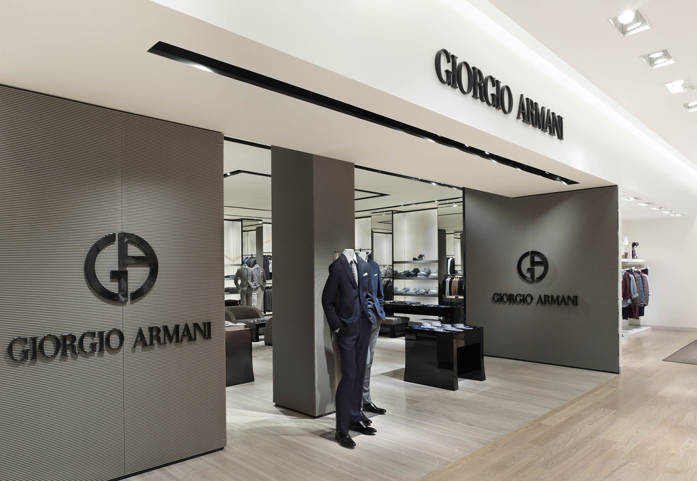 The Giorgio Armani shop-in-shop.