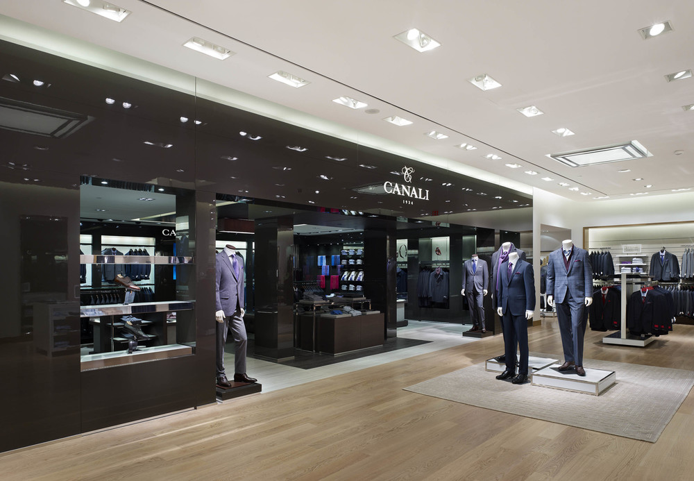 The Canali shop-in-shop.