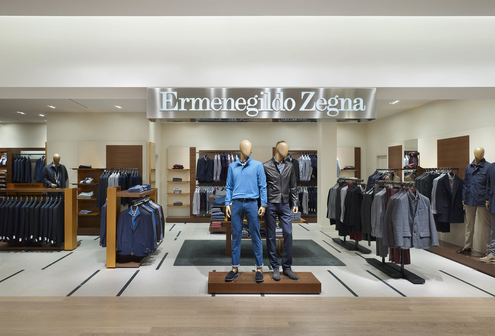 The Ermenegildo Zegna shop-in-shop.