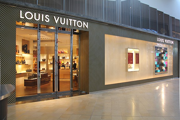 Yorkdale's 4,000 square foot Louis Vuitton store is also a shop-in-store at Holt Renfrew, with a separate mall entrance. Impressively, this is Canada's third-largest Vuitton location. Photo: dkstudio