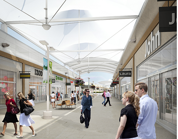 Rendering: Outlet Collection at Niagara