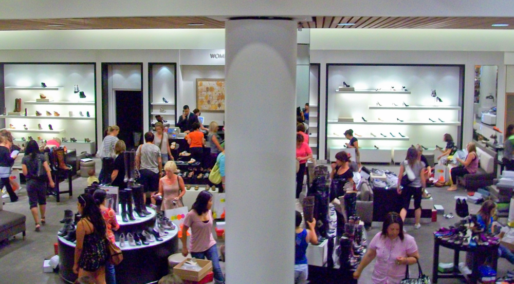Nordstrom's shoe departments are very popular. Calgary's Nordstrom will feature three women's shoe departments. Photo: www.fitinfun.com