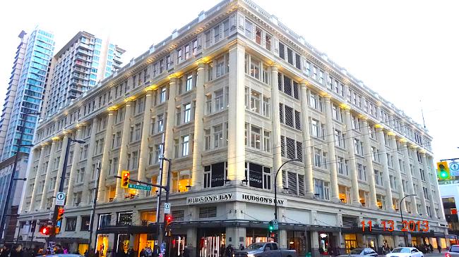Hudson's Bay Vancouver flagship. Photo: Darrell Bateman