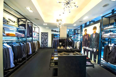 Inside Strellson's 1,700 sq ft Toronto Bloor Street store. Photo: Strellson.
